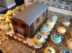 Tobi the train and cupcakes.