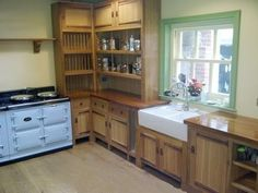 new Arts and crafts Movement oak fitted & unfitted kitchen furniture