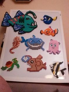 Finding Nemo characters perler beads by Debbie Smith-Witenski
