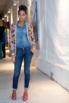 Brooklyn Fashion Week [A walking tutorial on denim mixing. Nice.]