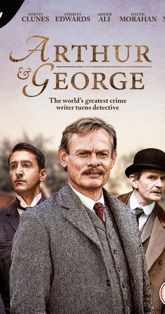 Minisérie: Arthur and George (Inglesa). With Martin Clunes, Arsher Ali, Charles Edwards, Art Malik. Sir Arthur Conan Doyle recaptures his zest for life by pursuing and challenging a notorious miscarriage of justice. Period Drama Movies, Period Dramas, Free Tv And Movies, Good Movies, Arthur Conan Doyle, Sir Arthur, Love Movie, Movie Tv, Movie List