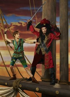 First photo of Peter Pan and Hook! #PeterPanLive