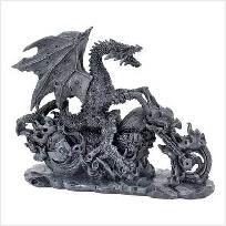 Biker Dragon Figurine