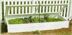 Amish Vinyl White Hot Bed Planter