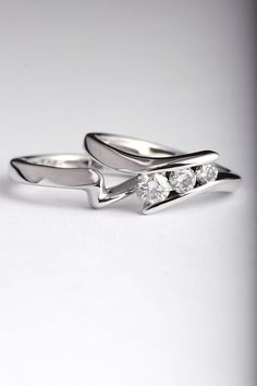 shaped wedding ring hand made in Ayr Scotland #www.christinesadler.com #unforgettable #jewellery