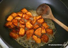 Crispy Sweet Potato in Caramelised Sauce (Goguma Mattang)   MyKoreanKitchen.com