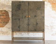 Pollock Cabinet Black Vellum