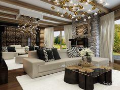 Hotel v štýle glamour Classic Interior, Home Interior Design, Outdoor Furniture Sets, Outdoor Decor, Luster, Glamour, Modern, House, 1