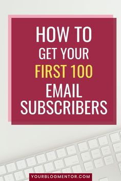 Getting your first 100 email subscribers is a milestone that every blogger wants to achieve. Here's how you can get your first 100 email subscribers and grow your email list.  #emailmarketing #emaillistbuilding #emaillists #onlinemarketing Email Marketing, Internet Marketing, How To Start A Blog, How To Get, Email List, Make Money Blogging, Online Business, You Got This, Social Media