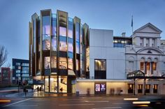 reggiani dramatically illuminates historic theatre royal in glasgow Aluminium Cladding, New Territories, Glasgow, Amazing Architecture, Park, Entrance, Theatre, Multi Story Building, City