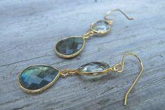 Drop Amethyst Earrings Stone Earrings Dangle by Belesas on Etsy, $46.99