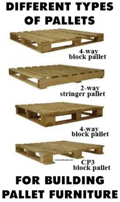 Different types of pallets for building pallet furniture. FOR THE BACKYARD! :D by MarylinJ