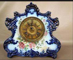 Dresden China clock