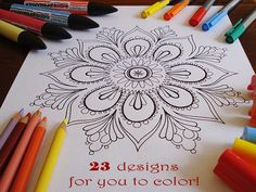 grown-up printable coloring pages, sounds like good therapy.