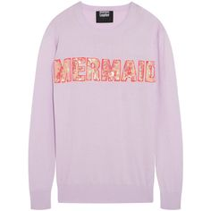 Markus Lupfer Mermaid sequined cotton-blend sweater (3 515 UAH) ❤ liked on Polyvore featuring tops, sweaters, store, pink sequin top, sequin embellished top, markus lupfer sweater, sequin sweater y embellished sweater