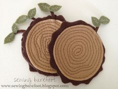 DIY Wood Stump Coasters (Free Template)