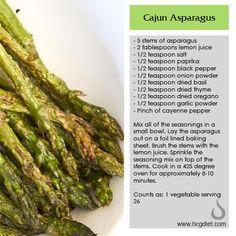 Phase 2 Cajun Asparagus #healthy #hcg
