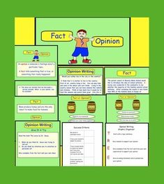 FACT OR OPINION PDF FILE FOR GR 3-5 (WITH PRINTABLES) - TeachersPayTeachers.com