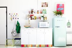 green smeg fridge