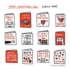Valentines Cards for the Mediocre Guy. reminds me of something Josh said at breakfast that day. :)