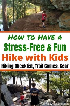 Make Hiking with kids stress-free & fun with simple hiking tips and tricks. Learn fun trail games with a free printable nature scavenger hunt to keep kids involved on the trail. Find the Best hiking gear to make hiking easy and a free printable Hiking Checklist to remember everything you need. A complete parents guide to hiking with kids from local forest preserves to National parks you'll be ready. Baby Hiking, Hiking With Kids, Best Hiking Gear, Hiking Tips, Massanutten Resort, Hiking Checklist, Wisconsin Vacation, Best Hiking Backpacks, Nature Scavenger Hunts