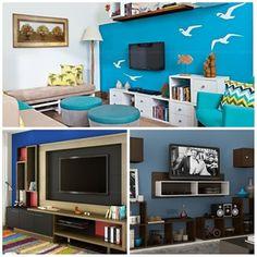 Como transformar sua sala de estar neutra em um ambiente mais alegre – e azul!