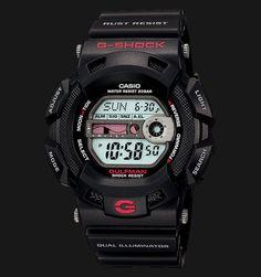 33be3fc13a2 Beli jam tangan Casio G-Shock GULFMAN G-9100-1DR - Daftar Harga