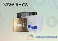 Bolsas de papel, bolsas de papel con asa, bolsas personalizadas, bolsas con logo, pequeñas cantidades. Excelente servicio de entrega urgente.