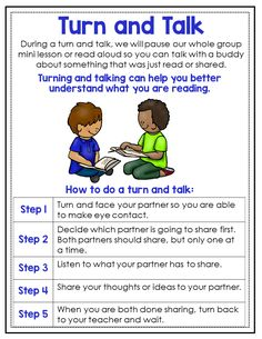Turn and Talk is an awesome routine to incorporate into your reading block. Get this mini anchor chart and so many more to teach your 3rd, 4th, or 5th grade students important reader's workshop routines.