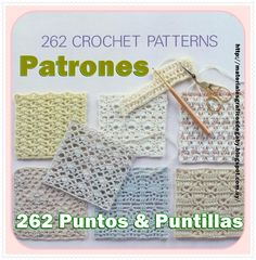 262 Puntos con patrones para coleccionar y tener siempre a la mano para tomar ideas a la hora de tejer y decorar