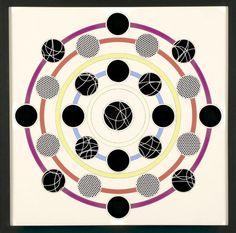 Henri Foucault: spectre n°6 1994. (52,5cm.52,5cm). Photogrammes et gouache.