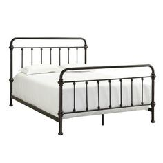 homesullivan calabria antique brown full bed frame - Black Metal Bed Frame Queen