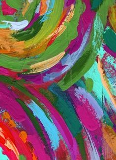 Acrylic Painting Abstract - colors