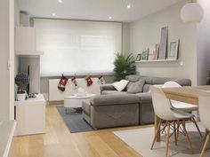 4 Small Apartment Designs Under 50 Square Meters Condo Living, Home Living Room, Living Room Decor, Living Spaces, Dining Room, Apartment Design, Interior Design Living Room, Room Interior, Home Remodeling