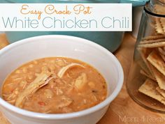Easy Crock Pot White Chicken Chili