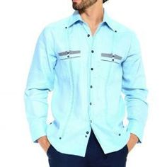 Men Shirts & Guayaberas - Off - Free USA Shipping & Returns Street Style Trends, Casual Street Style, Street Styles, Mens Style Guide, Men Style Tips, Mens Urban Fashion Trends, Mens Fashion, Street Fashion, Mens Dressing Styles Casual
