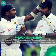 On this day in 2006, the stalwarts of Sri Lanka, Mahela Jayawardene and Kumar Sangakkara made a Test record which is still unbeaten. #HWCricketHistory #SL #cricket