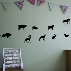 Farm Animals Vinyl Wall Art Decal Pack for Kids and Children's Nursery: Amazon.co.uk: Kitchen & Home