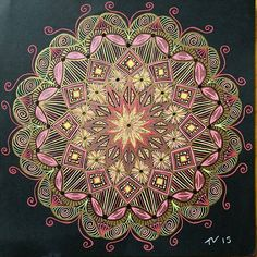 We love this mandala art by @inner_artist_out submit your mandala to be featured on this page by using the hashtag: #mandalala #mandala #mandalaart #mandalalove #zentangle #zendoodle #zenspire #doodleart #creativity #instaart