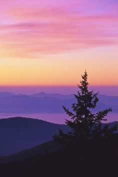 Dawn, Clingmans Dome, Great Smoky Mountains National Park, North Carolina   © Doug Hickok  All Rights Reserved (Velvia slide film).  On a chill autumn morning, dawn suffuses the sky with warm hues. From atop Clingmans Dome, the highest point in Great Smoky Mountains National Park, the still air was so cold my fingers could barely operate the camera. Yet, there was such an unmatched sense of peace and tranquility, a touch of heaven...  Doug's Photo Blog