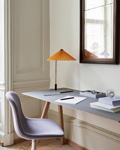 Hay debuts new homeware collection inside ornate palace in Copenhagen House Doctor, Yellow Home Offices, Grey Lino, Oak Table Top, Hay Design, Home Office Design, Home Living, Upholstered Chairs, Furniture Collection