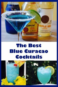 10 Delicious Blue Curaçao Cocktails I think blue curaçao cocktails are very refreshing, and some of my favorite cocktails contain this delicious liqueur. Check out 10 of (what I think are) the best blue curaçao cocktails. Blue Curacao Drinks, Blue Drinks, Vodka Drinks, Party Drinks, Mixed Drinks, Blue Alcoholic Drinks, Cocktail Drinks, Alcoholic Shots, Cocktail