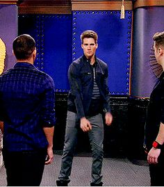 reaction dance dancing stage facepalm fabulous big time rush btr james maslow performing #gif from #giphy