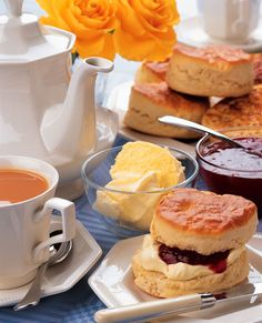 Love attending an english tea with scones, clotted cream and fresh preserves....but of course also tea!