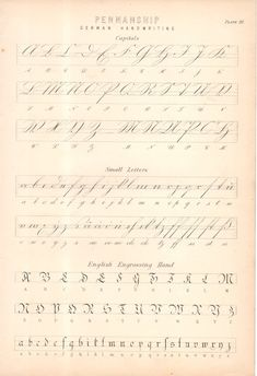 Antigua victoriana Antique Victorian Vintage c1880 impresión penmanship alemán Letra | eBay