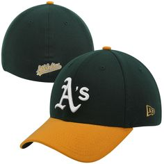 Men's Oakland Athletics New Era Green/Yellow MLB Team Classic 39THIRTY Flex Hat