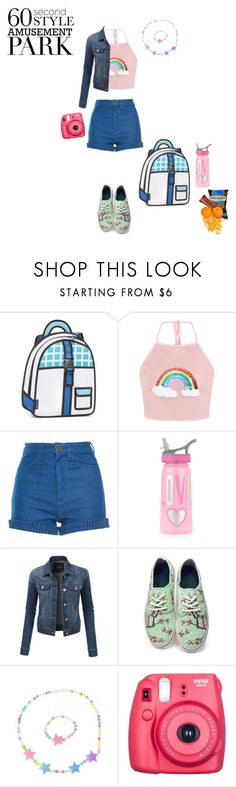 """Ticket to Amusement"" by flyawayangel337 ❤ liked on Polyvore featuring JumpFromPaper, Manoush, LE3NO, Hollywood Mirror, Fuji, amusementpark and 60secondstyle"