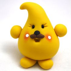 PARKER with Mustache  Polymer Clay Character by KatersAcres, $13.00