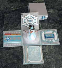 Snowman Explosion Box - Gift Card Holder - bjl