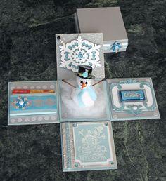 Snowman Explosion Box - Gift Card Holder - bjl